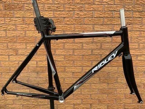 Ridley Tempo Winter Road Frameset Alloy Frame Carbon Fork Mudguard Eyes - Black